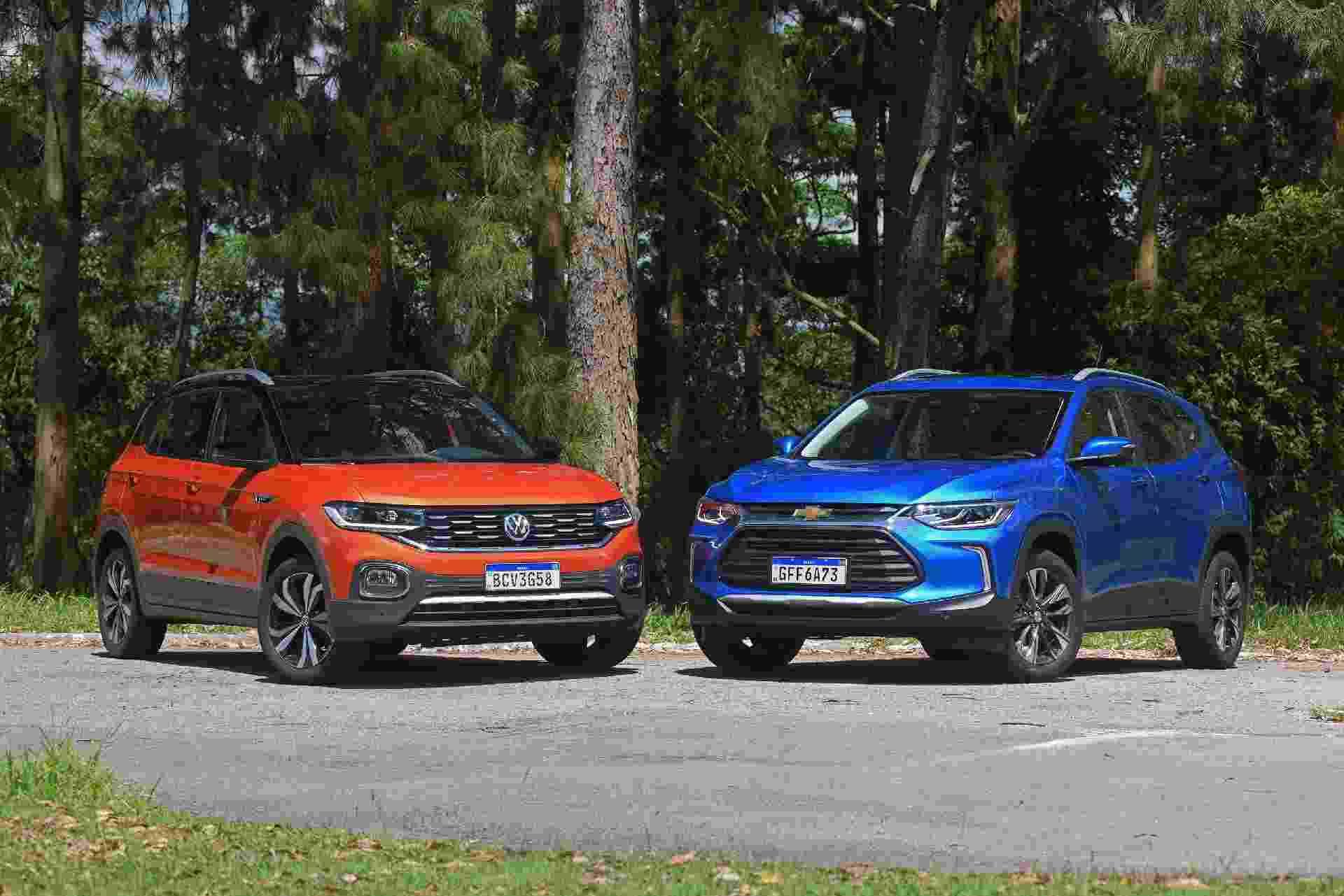 Volkswagen T-Cross Highline x Chevrolet Tracker Premier - Murilo Góes/UOL