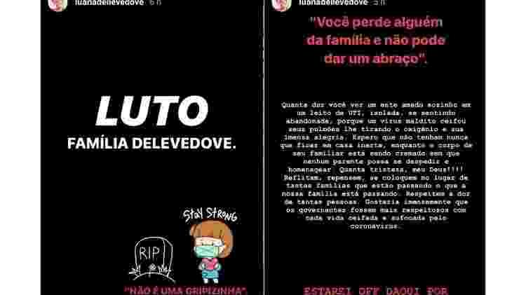 luana dellevedove lamenta morte de tia avo 1589284777667 v2 750x421 - 'Não é gripezinha': namorada de filho de Bolsonaro perde tia para covid-19
