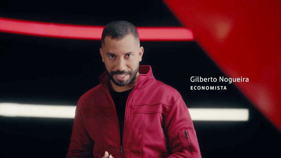 Gil do Vigor surge como garoto propaganda em comercial do Santander - Reprodução/Globo