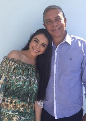 A cantora Vitória Filiú tem de driblar o ciúme do pai, Renato Nunes de Souza - Arquivo pessoal
