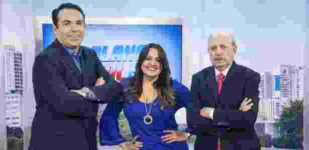 Gottino com Fabíola Reipert e Renato Lombardi - Edu Moraes/Record