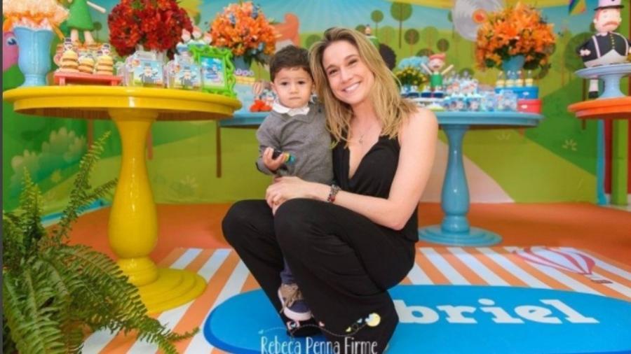 Fernanda Gentil na comemoração do aniversário do filho, Gabriel - Reprodução/Instagram/rebecapennafirmefoto