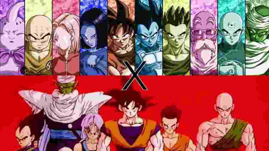 """Fãs de Goku e companhia se dividem entre defender o clássico e o novo; afinal, existe em """"Dragon Ball"""" melhor? - Montagem/UOL"""