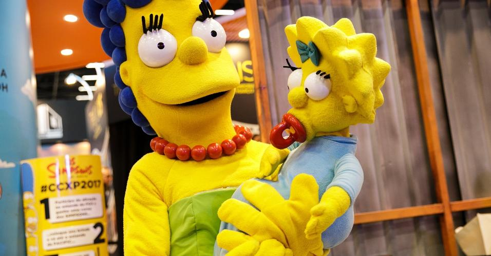 Marge Simpson e a pequena Maggie