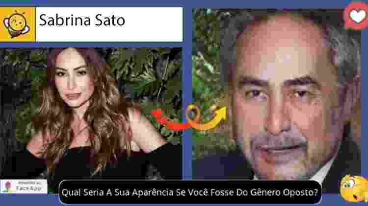Sabrina Sato se fosse homem, segundo brincadeira no Facebook - Reprodução - Reprodução