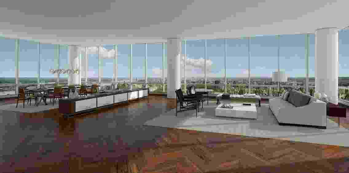 A cobertura tem mais de 1.000 m² e seis suítes - Divulgação