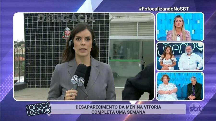 """Repórter Solange Boulos participa do programa """"Fofocalizando"""" - Reprodução/SBT"""