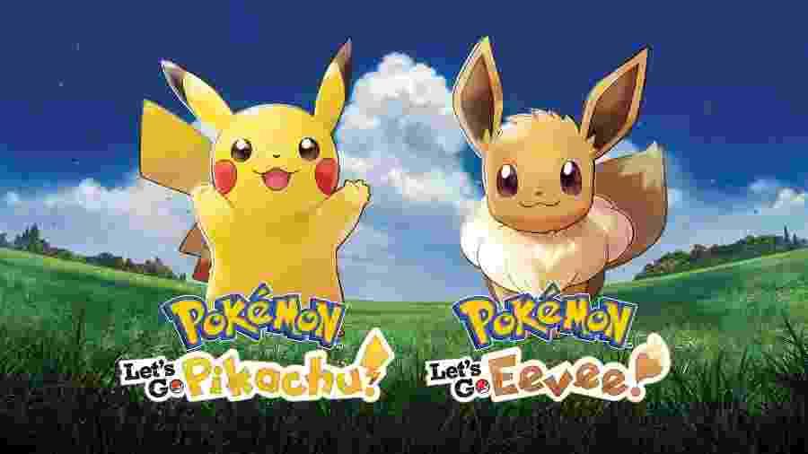 """""""Pokémon Let""""s Go Pikachu"""" e """"Pokémon Let""""s Go Eevee"""" chegaram nesta sexta-feira - Reprodução"""