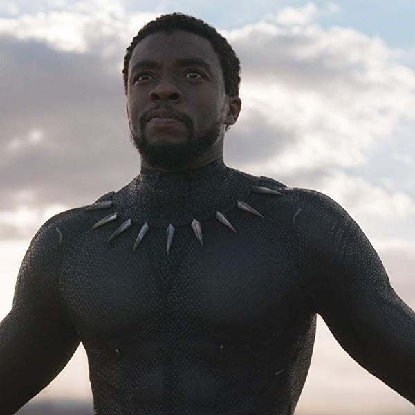 Chadwick Boseman em cena de 'Pantera Negra'