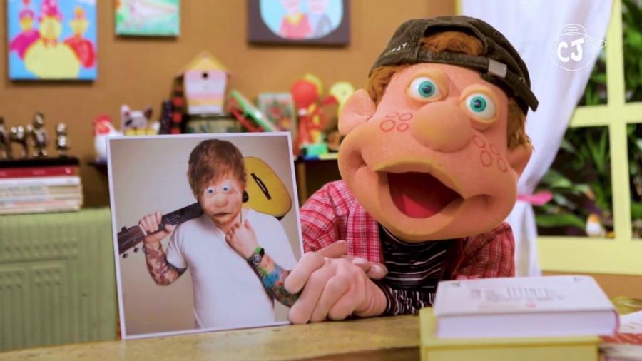 """Júlio, do """"Cocoricó"""", fala sobre semelhança com Ed Sheeran - Reprodução/YouTube/Canal do Júlio"""