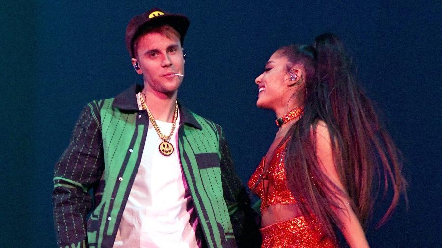 Justin Bieber e Ariana Grande se apresentam juntos no Coachella - Kevin Mazur/Getty Images for AG