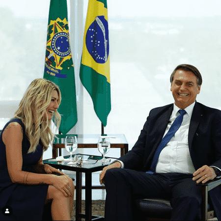 Antonia Fontenelle entrevista Jair Bolsonaro - Reprodução/Instagram
