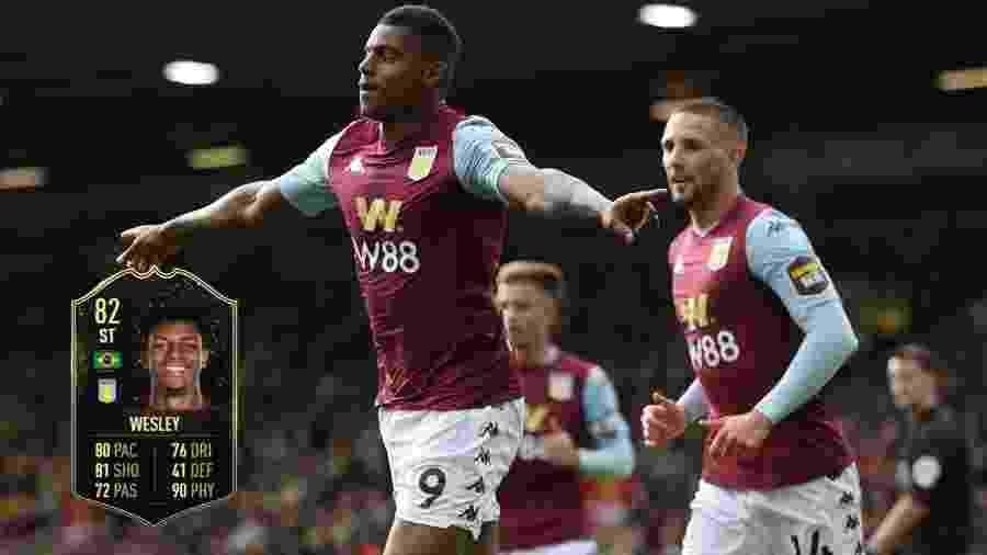 Wesley: aos 22 anos de idade, atacante do Aston Villa tem pontuação 88 - Reprodução