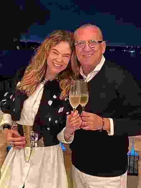 Galvão Bueno e a mulher, Desirée Soares - Reprodução/Instagram