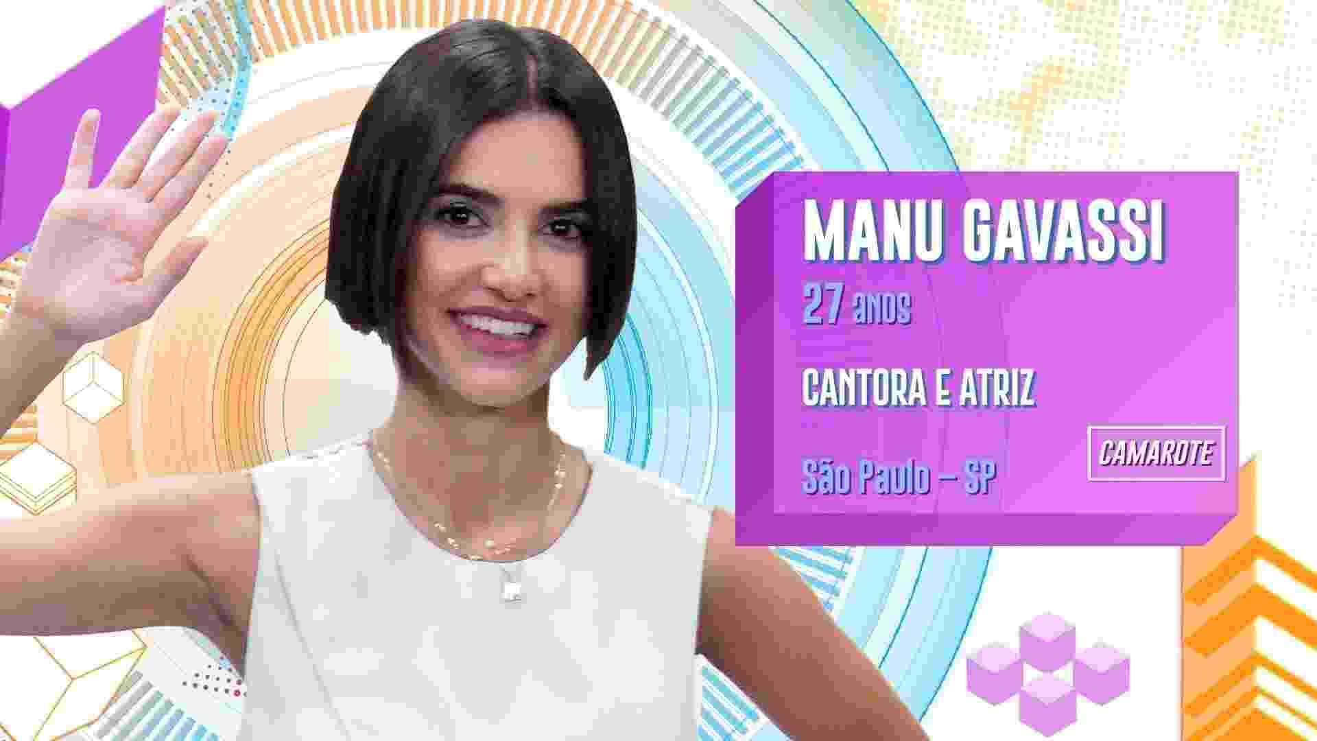 bbb20 - manu gavassi - Divulgação/TV Globo