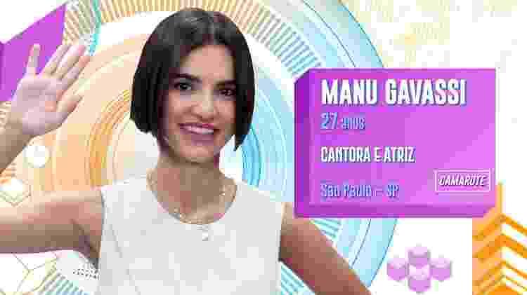 Manu Gavassi - Divulgação/TV Globo - Divulgação/TV Globo