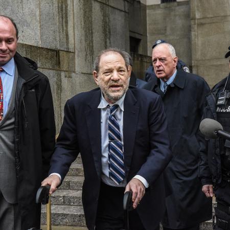Harvey Weinstein foi condenado por estupro e agressão sexual - STEPHANIE KEITH/AFP