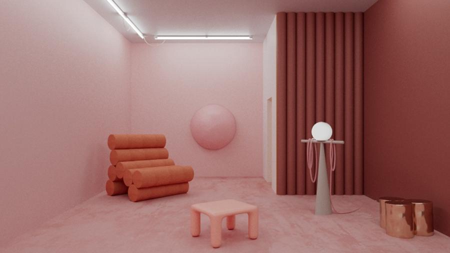 Projeto do designer Andres Reisinger, artista que trabalha com criações em 3D - Reprodução/Instagram/@reisingerandres