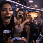 BBB 21: Sisters brindam dentro da limousine - Reprodução/Globoplay