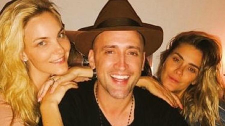 Paulo Gustavo ao lado de Carolina Dieckmann e Carol Trentini - Reprodução/Instagram