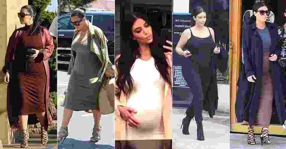 Looks de gravidez: Kim Kardashian - Reprodução/Instagram/Grosby Group