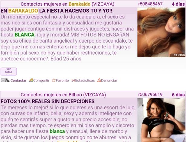 Anúncio com fotos de Geisy Arruda em site de prostituição - Reprodução