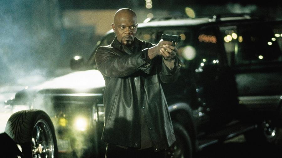 """Samuel L. Jackson em cena de """"Shaft"""" - Reprodução"""