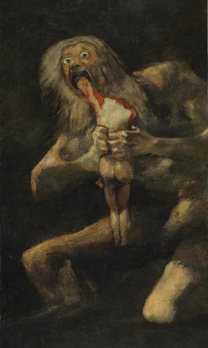 """""""Saturno Devorando um Filho"""" (1746-1828), de Francisco de Goya"""