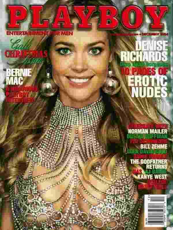 A atriz Denise Richards foi capa da Playboy americana em 2004 - Divulgação