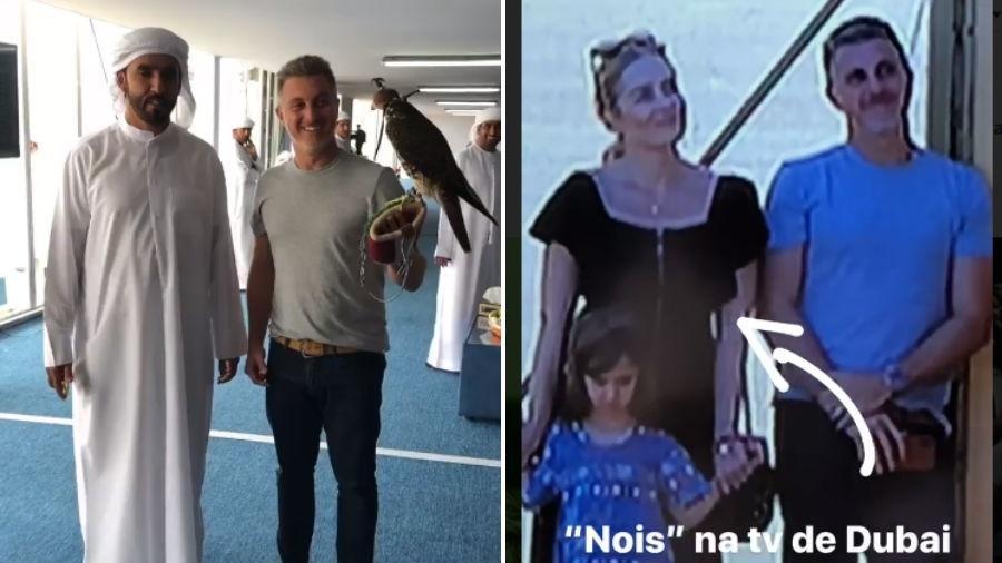 Luciano Huck e Angélica assistem à corrida de falcões - Reprodução/Instagram