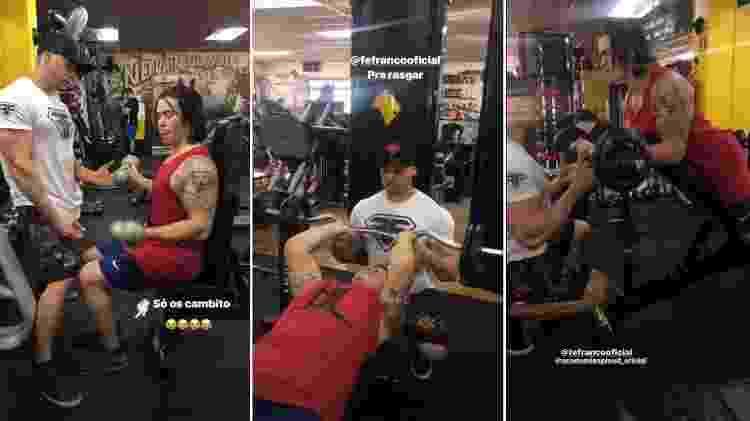 """Whindersson Nunes treina com Felipe Franco e compara músculos: """"Recomendo"""""""