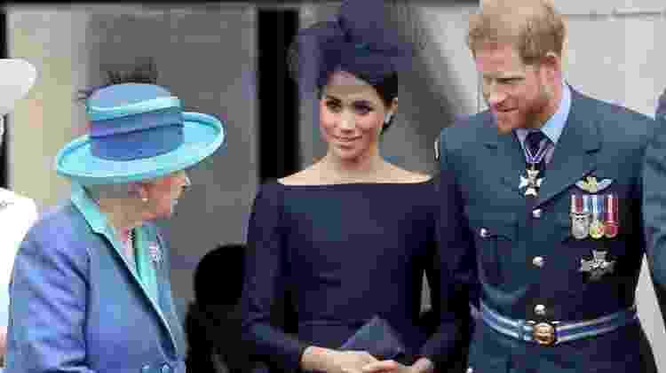 Elizabeth, Meghan e Harry - Chris Jackson/Chris Jackson/Getty Images - Chris Jackson/Chris Jackson/Getty Images
