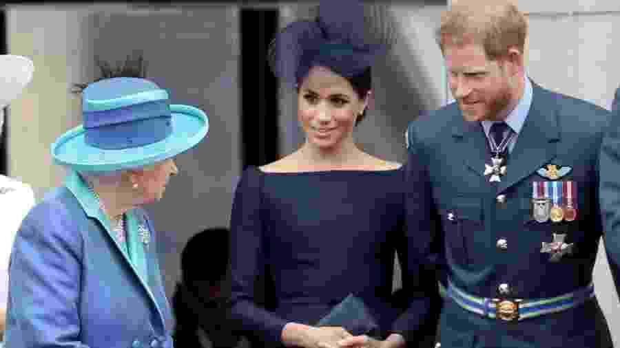 """Rainha Elizabeth disse que Família Real teve """"discussão produtiva"""" sobre o afastamento de Harry e Meghan - Chris Jackson/Chris Jackson/Getty Images"""