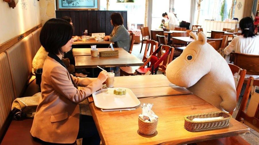 O Moomin Cafe, no Japão - Reprodução/Instagram