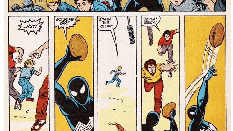 """Trecho de """"A Teia do Homem-Aranha #34"""", de 1988, - Reprodução/CBR - Reprodução/CBR"""