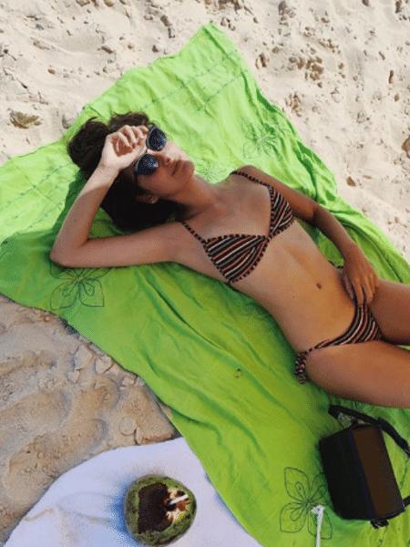 Marina Moschen curte praia no Rio - Reprodução/Instagram
