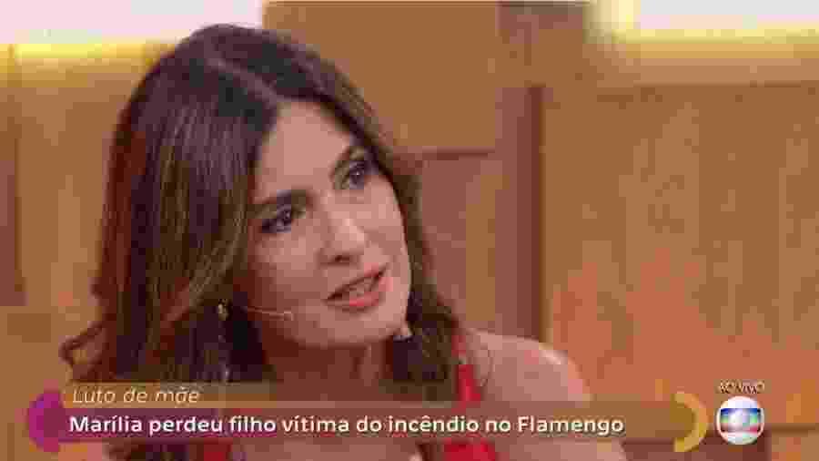 """Fátima Bernardes se emociona no """"Encontro"""" com Marília, mãe do menino Arthur, que morreu na tragédia do Ninho do Urubu - Reprodução/Instagram"""