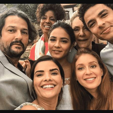 """Parte do elenco de """"O Sétimo Guardião"""" - Reprodução/Instagram"""