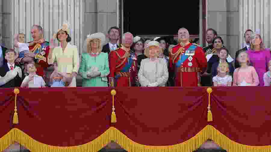 Família real durante o Trooping The Colour 2019 - Chris Jackson/Getty Images