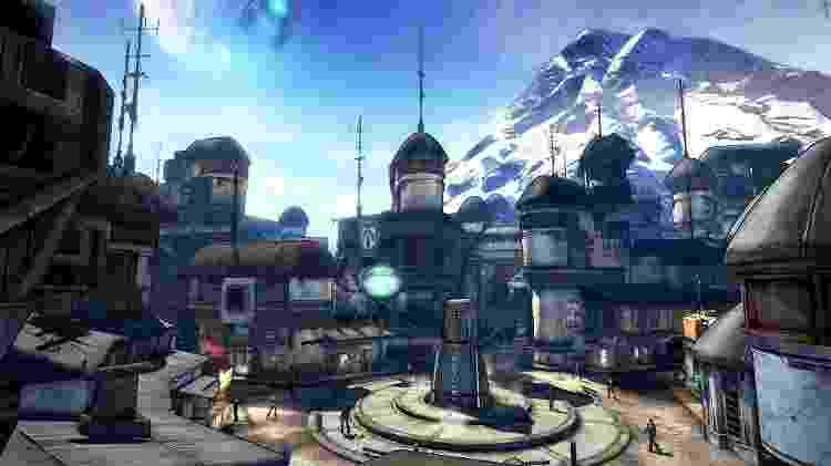 Sanctuary é a principal cidade de Pandora - Reprodução