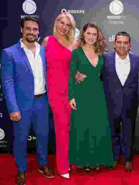 Felipe Cunha, Ana Hickmann, Rayanne Morais e Buddy Valastro em evento da Record Americas - Divulgação