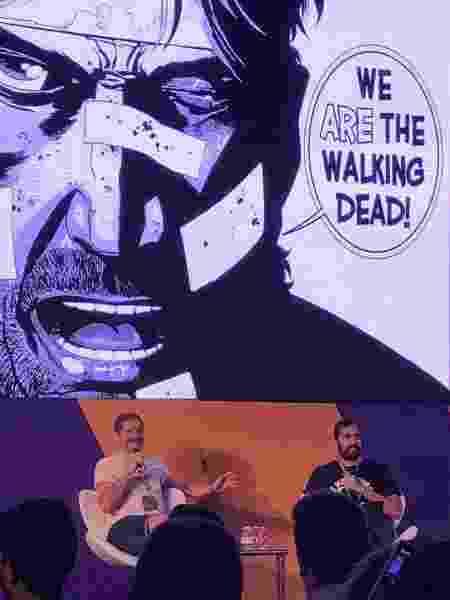 Painel de Walking Dead com o ilustrador Charlie Adlard na CCXP 2019 - Beatriz Amendola/UOL