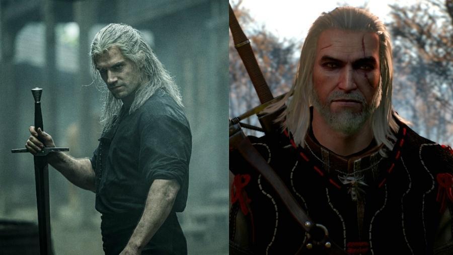 Henry Cavill, que interpreta Geralt de Rivia na série The Witcher, conta que buscou referências no dublador do personagem nos games, Doug Cockle - Divulgação/Montagem UOL