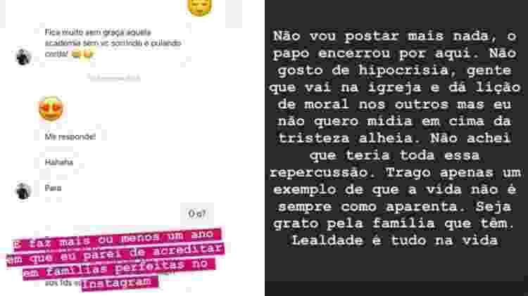 """Modelo mostra supostas mensagens de Marcos Mion e o critica: """"Lealdade é tudo"""" - Reprodução/Instagram"""