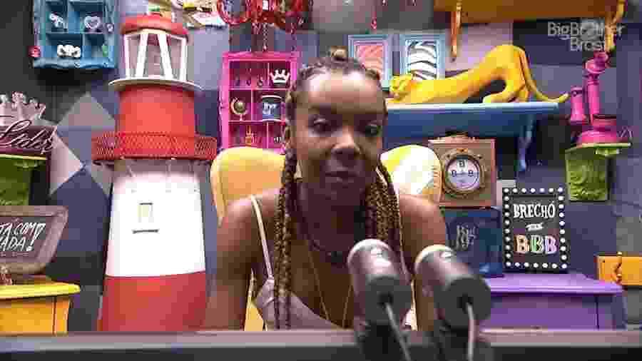 Thelma no confessionário do BBB 20 - Reprodução/Globoplay