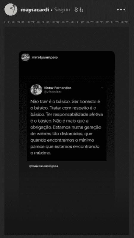 Desabafo Mayra Cardi - Reprodução / Instagram - Reprodução / Instagram