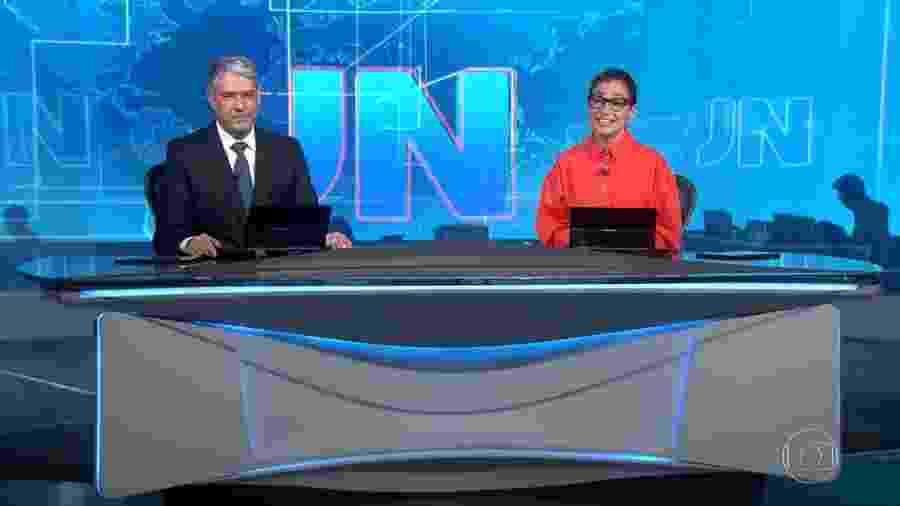 """William Bonner e Renata Vasconcellos anunciam férias durante """"Jornal Nacional"""" - Reprodução/GloboPlay"""