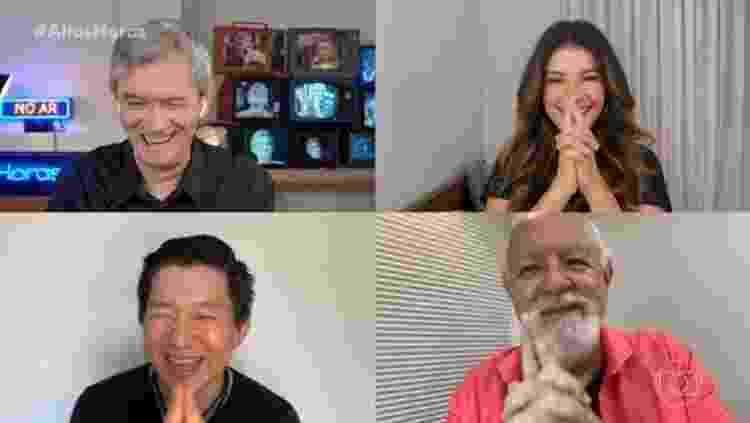 Pyong hipnotiza Serginho Groisman, Paula Fernanda e Ney Latorraca - Reprodução/Globoplay - Reprodução/Globoplay
