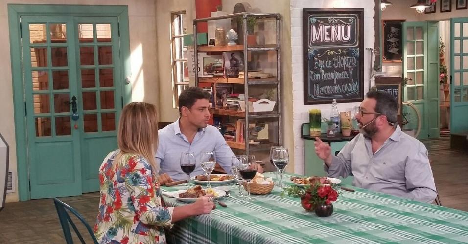 Cauã Reymond em Buenos Aires participando de programas da Telefe, como trabalho para a estreia de