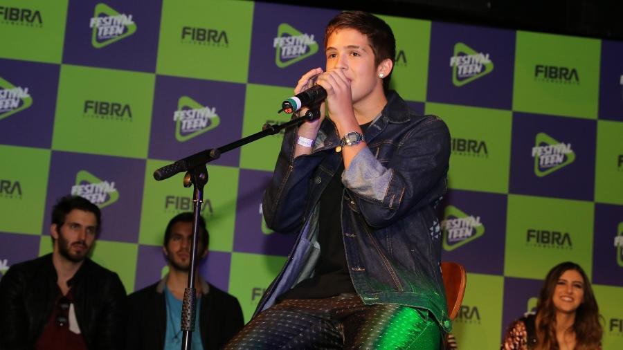Filho de Leonardo, o cantor João Guilherme será uma das atrações do Festival Teen, em São Paulo - Thiago Duran/AgNews